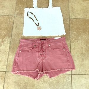 ♥️🌻Express Tie Front Shorts! New! Size 4